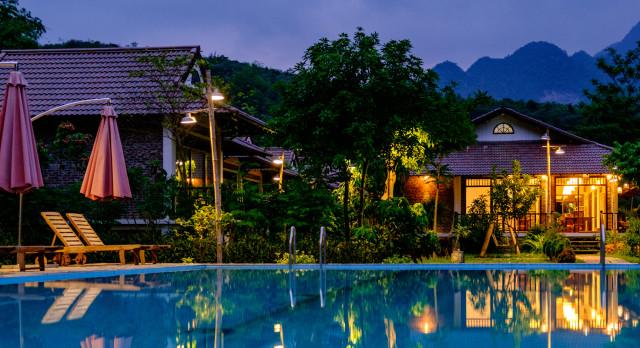 Pool at Sol Bungalows (Mai Chau) in Mai Chau, Vietnam