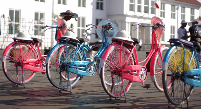 Enchanting Travels Indonesia Tours Jakarta Bicycle at Old Town Fatahillah