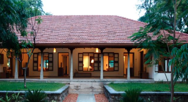 Exterior view of Hotel Heritage Madurai, India