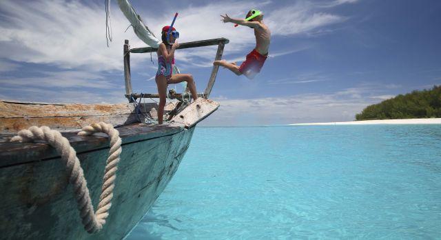 Children snorkeling in Zanzibar - Perfect for winter travel