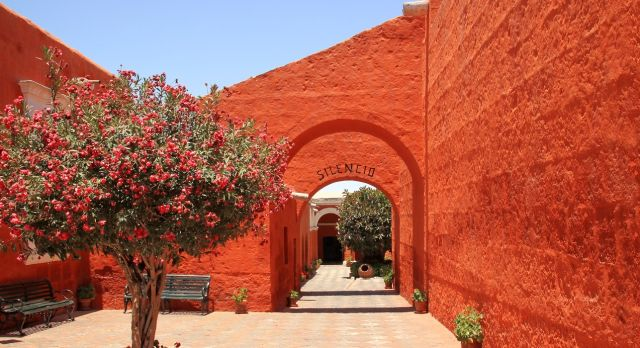 Innenhof des Santa Catalina Klosters in Arequipa