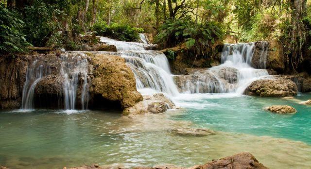 Die Kuang Si Wasserfälle
