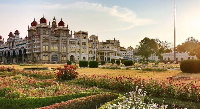 Visit palaces on North or South India tours, such as the Mysore Palace