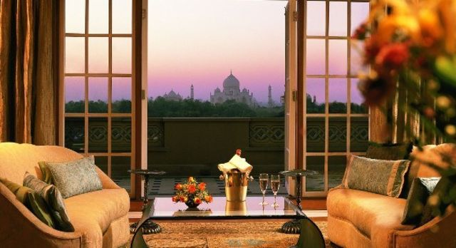 Lounge im Hotel The Oberoi Amarvilas in Agra, Nordindien