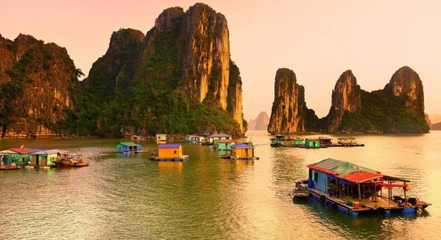 Halong Bay, Vietnam. Unesco World Heritage Site. Most popular place in Vietnam, shutterstock_123228598