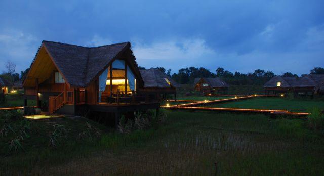 Eine Hütte eines Eco Retreat Hotels
