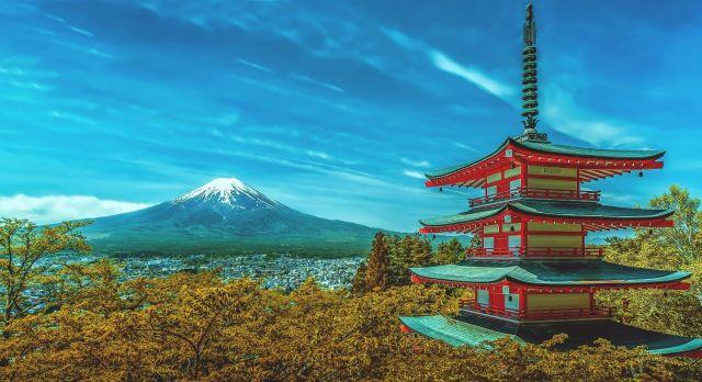 Blick auf den Fudschijama