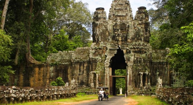 Enchanting Travels Cambodia Tours Angkor Thom Gate - summer trip