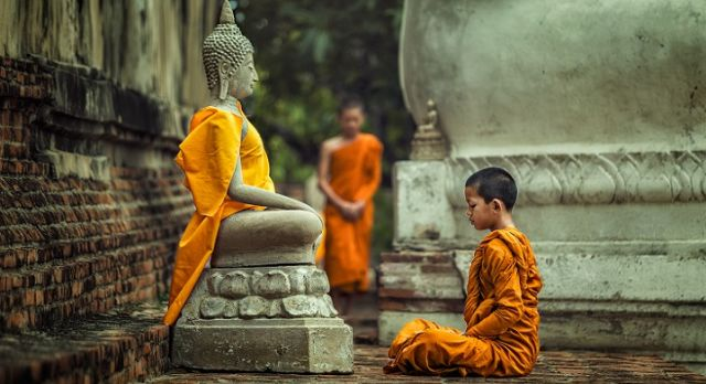 Mönche in Kambodscha