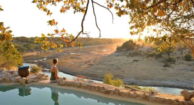 Poolside at Meno A Kwena - luxury African safari