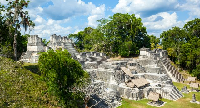 The North Acropolis complex at Tikal