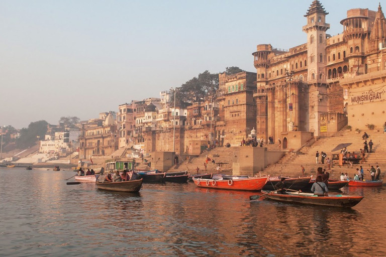Varanasi India, Ganges river shore