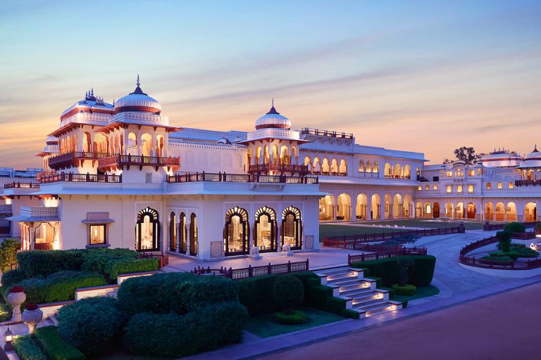 Außenansicht des Hotels Rambagh Palace, Jaipur