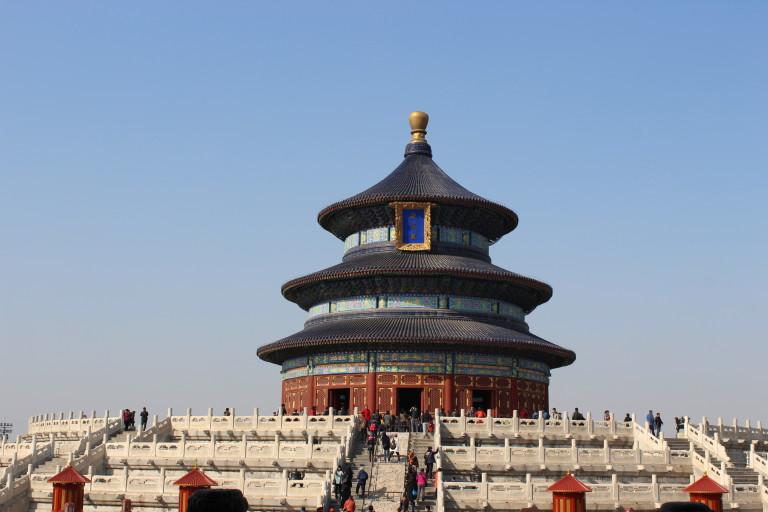 Halle des Erntegebets im nördlichen Bezirk des Himmelstempels, Peking, China