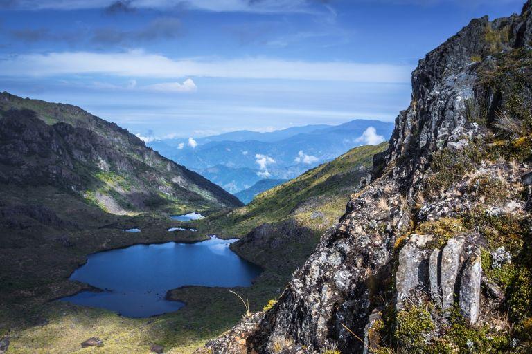 Gebirge und Täler am Cerro Chirripó in Costa Rica, Südamerika