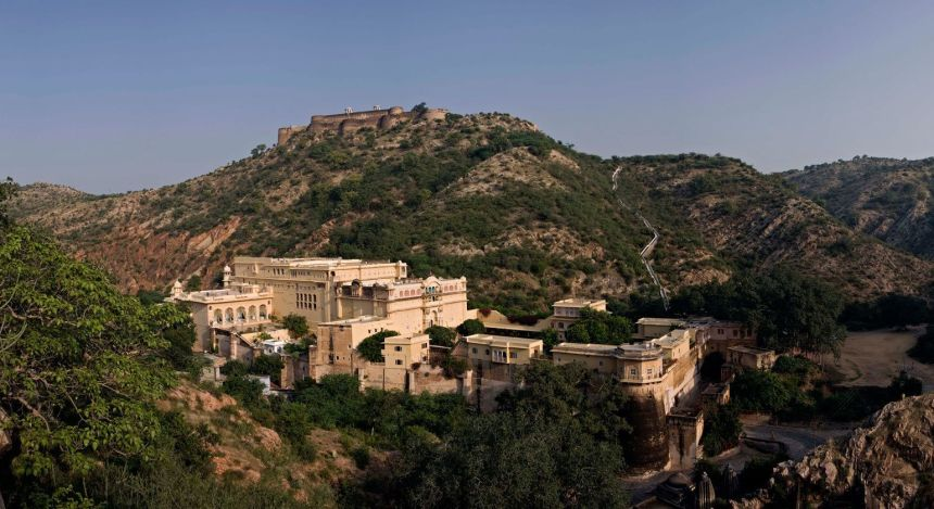 Enchanting Travels - India Tours- Samode Village-Samode Palace -View from above