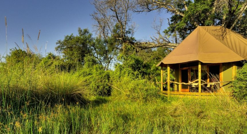 Häuschen in der Natur, Kanana Camp, Okavangodelta, Botswana