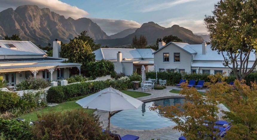 Außenansicht des Le Quartier Francais in Winelands, Südafrika