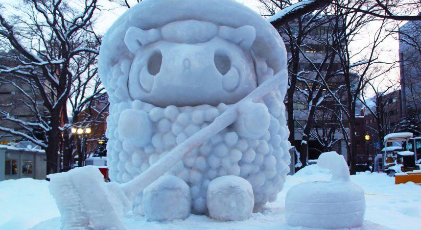 Yuki Matsuri Schneeskulpturen Fest in Japan