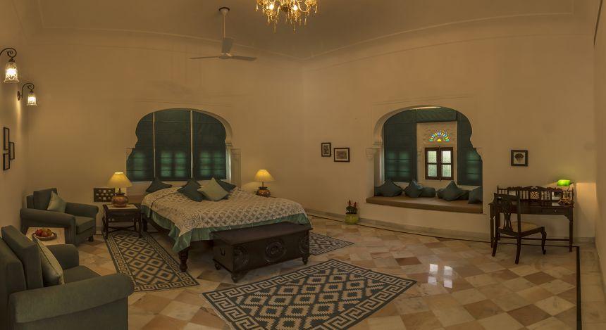 Double room at Devshree Hotel in Deogarh, North India
