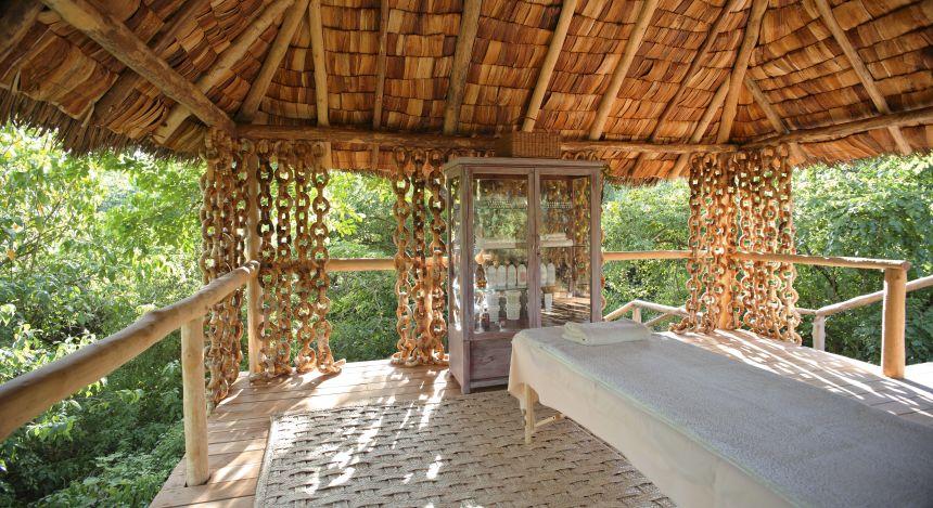 Massagebereich im Lake Manyara Tree Lodge, Lake Manyara & Ngorongoro, Tansania