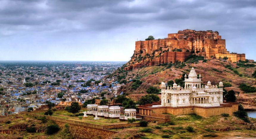 Blue city Jodhpur, Rajasthan: Festung von Jodhpur