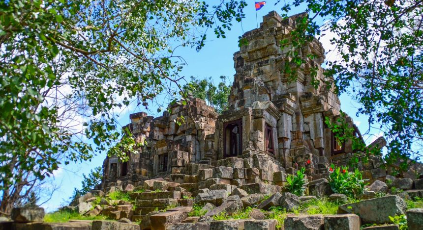 Enchanting Travel Cambodia Tours Battambang Wat Ek Phnom (temple) in Battambang,