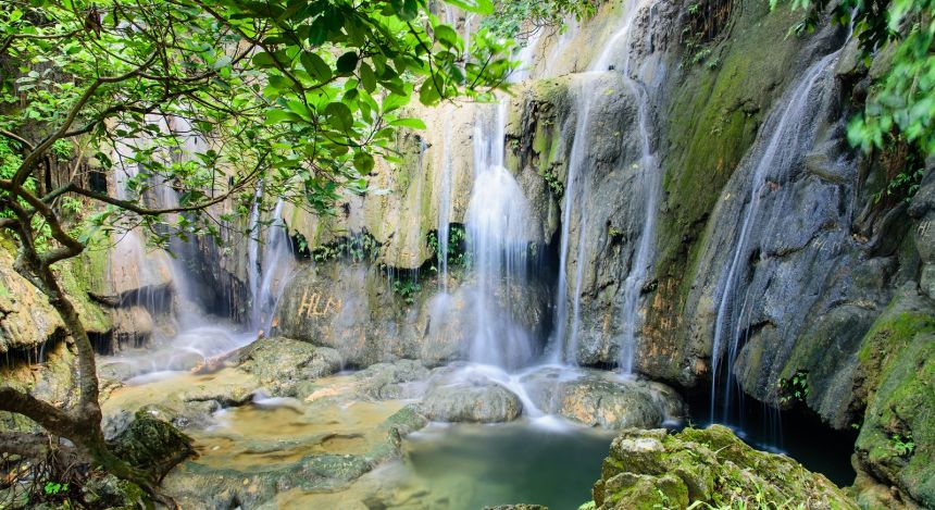There are several enchanting waterfalls within the Pu Luong Nature Reserve