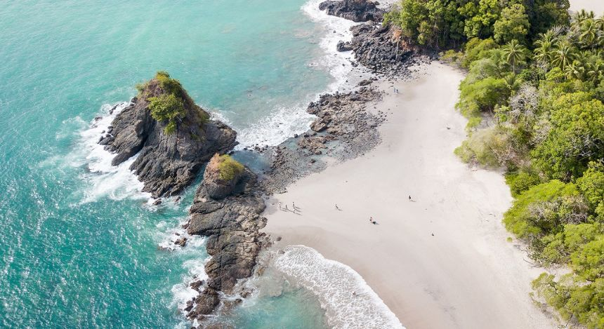 Pristine beach at Manuel Antonio