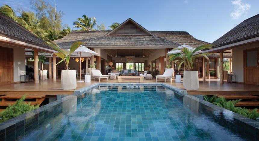 Privater Pool im Desroches Island Resort Hotel in Desroches Island, Seychellen