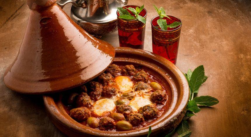 Traditional tajine pot in Morocco