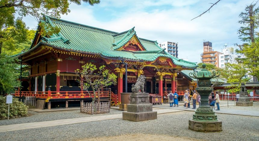 Nezu shrine in Tokyo