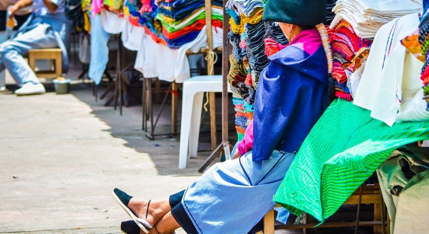 Colorful market in Otavalo