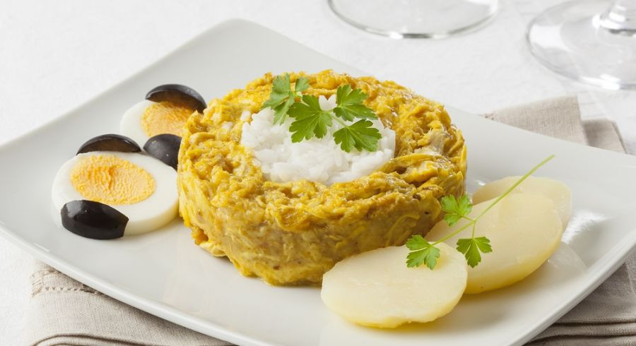 Aji de gallina, typical dish from Peru