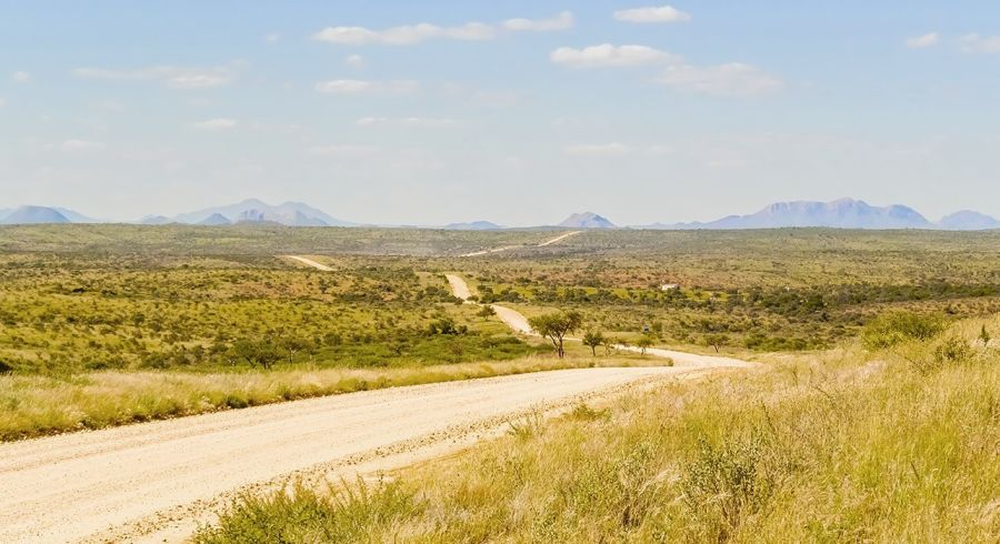 Staubiger Highway in Windhoek, Namibia