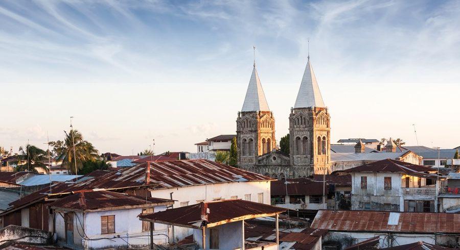 Dächer von Stown Town in Sansibar, Tansania