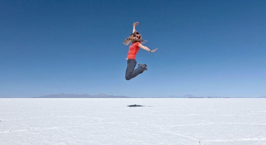 Der Salzee von Uyuni - typisches Fotomotiv