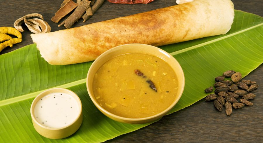 South Indian cuisine - dosa with Enchanting Travels