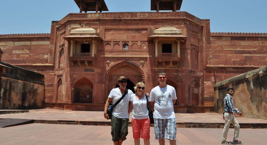 Unsere Gäste besuchten das Agra Fort, Indien