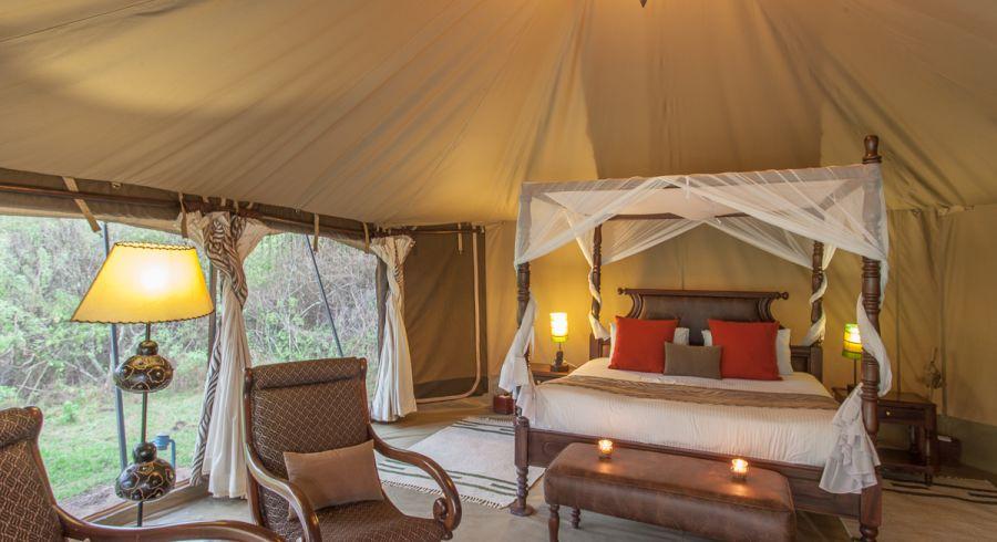 Ausstattung eines Camps in Afrika