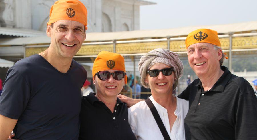 Familie Hugentobler und Familie Egloff auf Ihrer Indien Reise