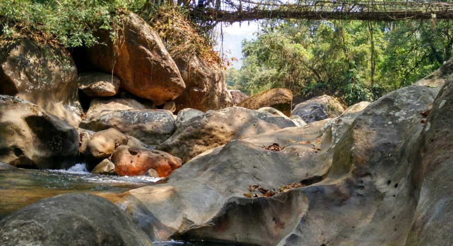 Fluss in Cherrapunji