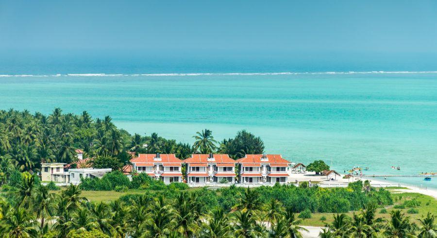 Tropical resort at Minicoy in Lakshwadeep
