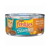 Friskies Cat Food with Chicken, Tuna & Cheese in Gravy Tasty Treasures