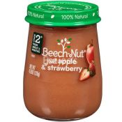 Beech Nut   Babyfood 2stage Apple Strawberry