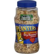 Planters Dry Roasted Peanuts Lightly Salted Bottle