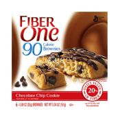 Fiber One Snacks 90 Calorie Chocolate Chip Cookie Brownies
