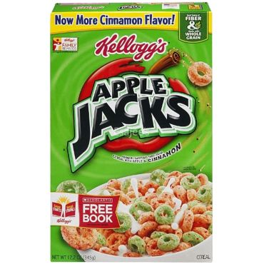 Kellogg's Apple Jacks Cereals Apple & Cinnamon