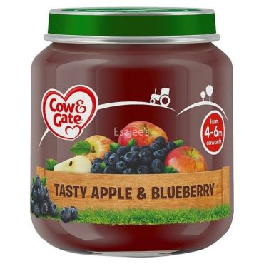 Cow & Gate Tasty Apple & Blueberry Baby Food | 04-06 Months