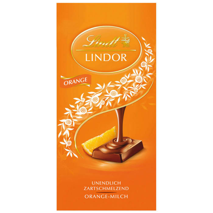 Lindt Lindor Tafel Orange Chocolate
